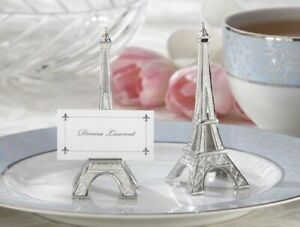 Kate Aspen 'evening in Paris' silver place name holders. QTY: 12,