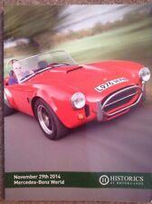 HISTORICS AT BROOKLANDS CLASSIC CAR AUCTION CATALOGUE MERCEDES WORLD 29/11/2014