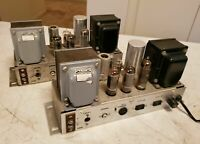 Pair Ampex Amplifiers w/ Triad Transformers, 6973 Tubes Original