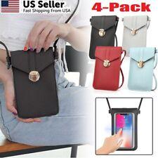 4x Women Touch Screen Crossbody Cell Phone Bag Wallet Pouch Purse Shoulder Case