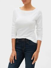 Bnew GAP Long Sleeve Boatneck T-Shirt, White, Small only