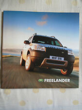 Land Rover Freelander range brochure Sep 2002 French text