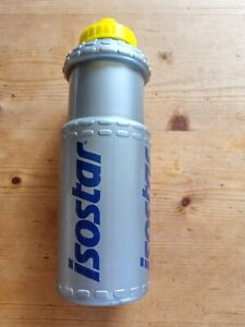 ISOSTAR Water Bottle  750cc Silver/blue .Easy Squeeze.Pull Top.  new