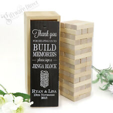 Personalised Jenga Wedding Guest Book Gift for Engagement, Wedding, Anniversary