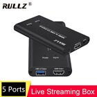 HDMI Video Capture Card USB 3.0 HD Record Box PS4 Game Outdoor PC Live Streaming