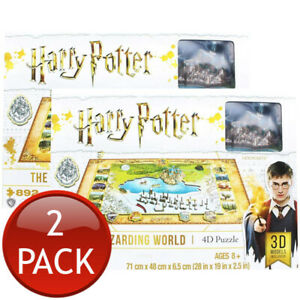2 x HARRY POTTER THE WIZARDING WORLD 4D JIGSAW PUZZLE 892 PIECES CITYSCAPE TOYS