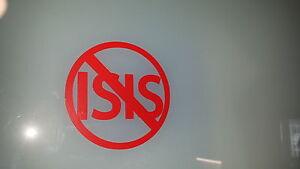 Anti ISIS Decal Sticker,Laptop,Window,Car,Van,Bumper,Hebdo,ISIL,Terrorist,Ban
