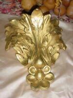 VINTAGE FLORENTINE GOLD GILDED HEAVY WALL SHELF  ETHAN ALLEN