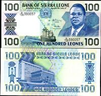 SIERRA LEONE 100 LEONES 26-9-1990 P 18 UNC