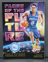 Zhaire Smith RC 2018-19 NBA Hoops Holo Faces of the Future Rookie Card #16 Gold