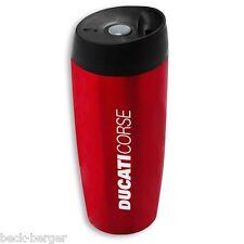 DUCATI Corse Thermobecher Kaffee Becher Trinkbecher Coffee to go rot NEU !!