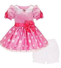 NEW NWT DISNEY STORE PINK MINNIE MOUSE DRESS PRINCESS COSTUME DRESS GOWN SIZE 2T