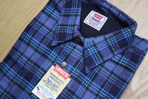 **NEW** Levi's Genuine Vintage (1980's/90's) Checked LS Red/Blue Men's Shirts