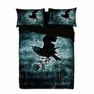 Alchemy - NEVERMORE - Duvet and Pillows Cover Set / UK SuperKing / US Kingsize