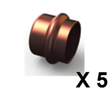 Bag 5 Copper Press Fitting, Copper End Cap 32mm GAS (GCN61-32)
