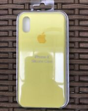 Apple Silicon Case iPhone X Or IPhone XS, Fits Both Genuine Yellow Flash Cover