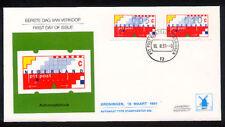 FDC Philato W87 - W 87 blanco met open klep