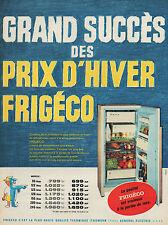 PUBLICITE  FRIGECO REFRIGERATEUR SAVIGNAC  CUISINE  DESIGN ANNEES  60'  AD 1960