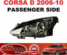 VAUXHALL CORSA D HEADLIGHT HEADLAMP BLACK INNER PASSENGER NEAR SIDE SXI SRI CDTI