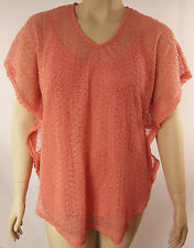 Autograph Coral Textured Short Sleeve Batwing Tunic Top Plus Size 14 BNWT #G71