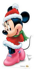 Minnie Mouse Mrs Santa LIFESIZE CARDBOARD CUTOUT STANDEE STANDUP Christmas Xmas
