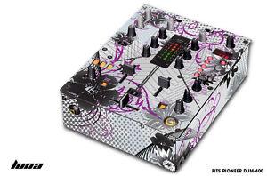 Skin Decal Wrap for PIONEER DJM-400 DJ Mixer CD Pro Audio DJM400 Parts - LUNA