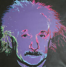 Steve Kaufman SAK - Einstein State II Purple - Original Embellished Screenprint