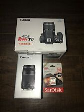 Canon EOS Rebel T6 Digital SLR Camera Kit with EF-S 18-55mm/75-300mm New!!!