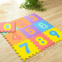 10 x EVA Baby Foam Play Mat Soft Alphabet Number Puzzle DIY Toy Floor Game