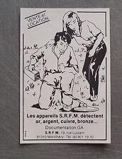 Publicité Detecteur de metaux SRFM , french advert