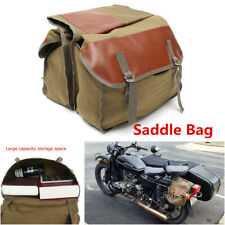 Motorcycle Saddle Bag Travel Knight Rider Back Pack w/Double-strapped Flap Cover