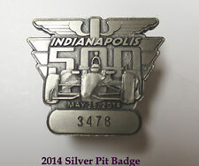 2014 Indy Indianapolis IMS 500 Speedway Silver Pit Badge / Pin