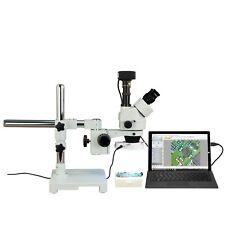Omax 3.5X-90X 10Mp Usb3.0 Digital Zoom Boom Stereo Microscope+64-Led Ring Light