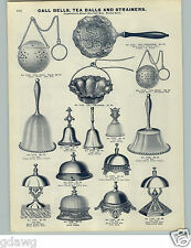 1905 PAPER AD Counter Call Bell Bells Hop Tea Balls Strainers