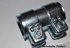 Rohrverbinder/Doppelschelle 47mm x 42mm, Ford, Peugeot, Fiat, Citrön, Opel,...