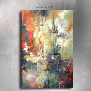 Mix Lang Original Abstract ART Painting 'Natural Selection' Decor Certified U.S