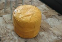 Express Send Genuine Leather Morrocan pouf