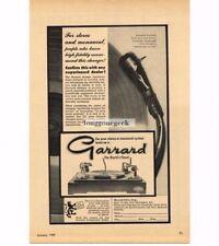 1959 Garrard Hi-Fi Turntable Record Player Changer Vtg Print Ad