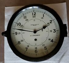 Chelsea Clock Co Boston Us Government Issue Large Dial Key Wind Runs