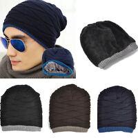 Unisex Crochet Knit Plicate Baggy Beanie Wool Hat Skull Winter Warm Cap Gift