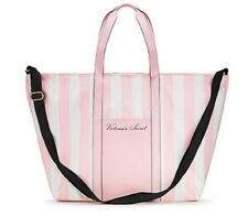 Victorias Secret ~ Pink White Stripe  Tote Bag NWT July 2020 Retail Over 85