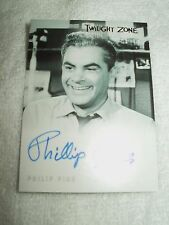 The Twilight Zone Autograph Card Philip Pine as Leonard O'Brien A47