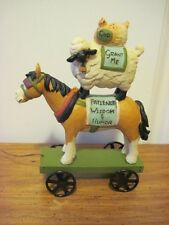 Blossom Bucket Farmhouse Stacked Horse, Sheep & Chicken Pull Toy Resin Figure