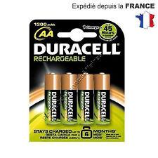 Piles DURACELL ACCU RECHARGEABLE AA LR06 1300mAh Lot de 8