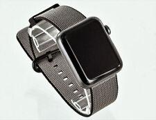 Open Box Apple Watch Series 2 42mm Aluminum Case Black Woven Band-Scratch Screen