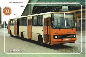"Blechschild 20x30cm ""Oldtimer-Busse im Osten - Ikarus 280"" Nr. 33"