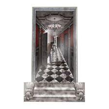 Giant Haunted Hallway Zombie Gothic Halloween SFX Wall Door Room Scene Setter 3D