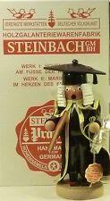 "STEINBACH GERMAN WOODEN NUTCRACKER CHUBBY SMOKER ""BARRISTER""  S940 NEW"