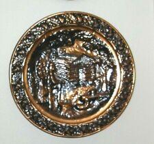 "Coppercraft Guild Copper Plate Log Cabin 20"" Great Deco Item"
