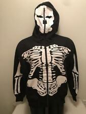 Jerry Beck Skeleton Hoodie Hooded Sweatshirt Mens XL
